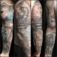 Guitar Tattoo Sleeve travelling
