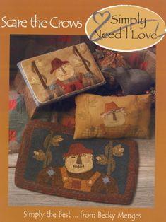 Applique Pillows, Wool Applique Patterns, Felt Patterns, Primitive Folk Art, Primitive Autumn, Primitive Quilts, Primitive Stitchery, Primitive Crafts, Love And Co