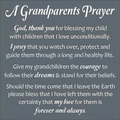 This prayer expresses so well, everything that is in my heart for my precious grandchildren. ❤