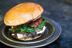 portabello-mushroom-burger-. OK, I guess you get it now that I LOVE portabella mushroom burgers!