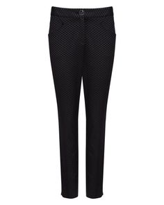 Diamond jacquard pant - Black | Suits | Ted Baker