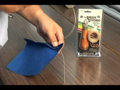 How to use a sewing awl~Sewing Awl Kit - Speedy Stitcher