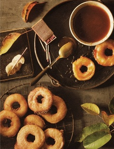 Apple cider beignets w/ caramel dipping sauce_Sweet Paul Magazine