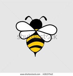 Cartoon flying bee honey for the logo.
