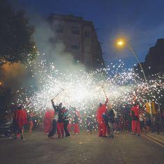 Correfocs, the popular fire parades of Catalonia. #travel #barcelona #spain