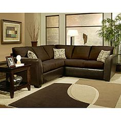 Shop for Furniture of America Graham Chenille Sectional Sofa. Get free delivery On EVERYTHING* Overstock - Your Online Furniture Shop! 2 Piece Sectional Sofa, Couch And Loveseat, Modern Sectional, Sofa Set, Formal Living Rooms, Home Living Room, Living Room Furniture, Comfy Sofa, Room Planning