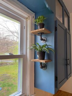Kitchen Window Shelves, Shelf Over Window, Window Shelf For Plants, Kitchen Window Decor, Kitchen Redo, Kitchen Remodel, House Plants Decor, Home Upgrades, Plant Shelves
