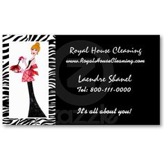 House Cleaning & Maid Services Business Card Cleaning Business