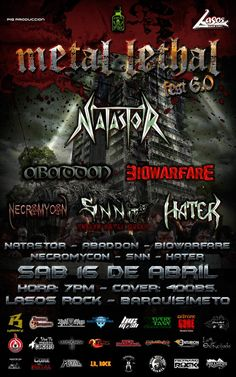"Lasos Rock presenta: ""Metal Lethal Fest 6.0"" http://crestametalica.com/events/lasos-rock-presenta-metal-lethal-fest-6-0/ vía @crestametalica"