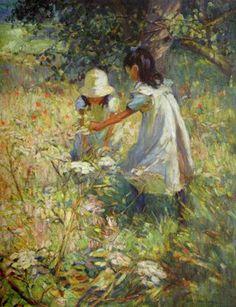 British Paintings: Dorothea Sharp - Picking Wild Flowers