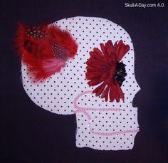 Crafty Lady Abby: Dia de la Abby #32: Quilt Block Inspiration Skull