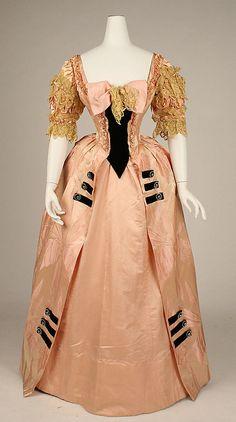 "~Ball gown Jacques Doucet (French, Paris 1853–1929 Paris) Date: 1897 Culture: French Medium: silk Dimensions: a) CF: 50 1/2""; CB: 56 1/4""; Wa...~"