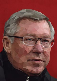 We love this artwork of @manutd legend Sir Alex!