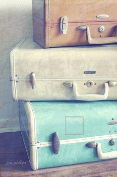 suitcases.