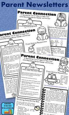 Are you looking for a great newsletter to send to parents each month? This one focuses on reading and writing and includes tips, resources, activities, and ways to get the reluctant reader reading
