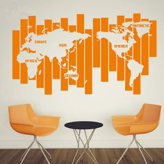 World map decal world map wall art south africa focus wall world map wall decal gumiabroncs Image collections