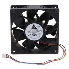Reemplazo del ventilador de refrigeración de 6000 RPM 4 pines Conector para Antminer Bitmain S7 S9 Negro