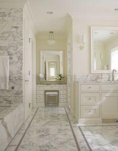 marble bathroom with border