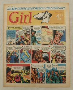 Comics Girls, Every Girl, Dandy, Sisters, Eagle, British, Kitty, Baseball Cards, Little Kitty