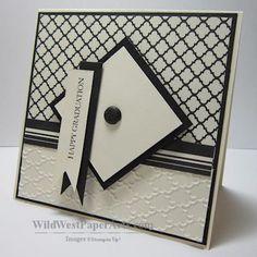 handmade graduation card ... black and white ...