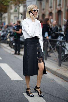 讓你含蓄展現性感美態的開衩裙子!