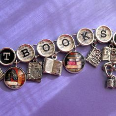 Check out this Etsy shop: A Likely Story: Literary Jewelry & Bookmarks for the Bookish Sort