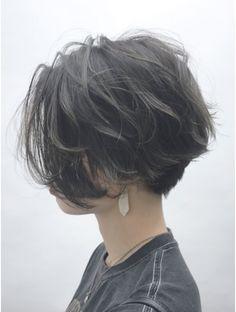 Pin on ヘアースタイル Asian Short Hair, Girl Short Hair, Short Hair Cuts, Tomboy Long Hair, Tomboy Hairstyles, Bob Hairstyles, Tomboy Haircut, Shot Hair Styles, Curly Hair Styles
