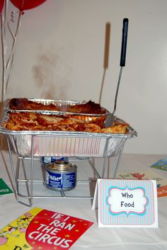 """""""Who Food""""...Dr. Seuss Lasagna for baby shower"""
