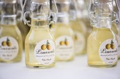 Mini Limoncello party favors - thought it would pair well with a modern clambake