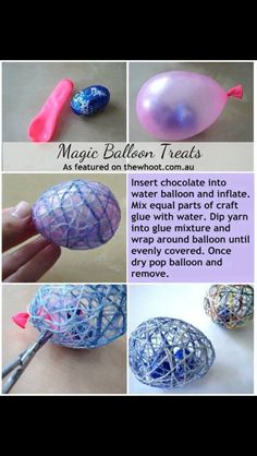 Easter egg idea. Great way to keep the kids busy if they can't use scissors. :-p