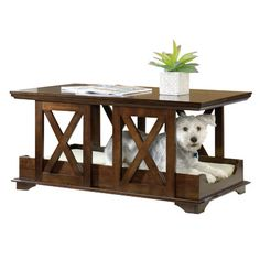 functional furniture! dog crate and coffee table | images from
