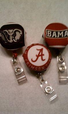 University of Alabama id badge reel. $6.00, via Etsy.
