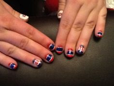Sonia's nails! :) Montréal canadiens! Montreal Canadiens, Hockey, Nails, Beauty, Finger Nails, Ongles, Field Hockey, Beauty Illustration, Nail