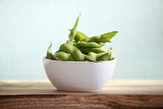 Roasted Edamame! Edamame are green soy beans and are a great source of isoflavones or phytochemicals which have cancer fighting properties. These power foods are also packed full of protein, high in fiber, and low in fat. You can try this delicious recipe as a side dish or a yummy snack.