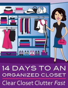 Clear Closet Clutter FAST. Book in now to reserve your place! A program to help you create your perfect wardrobe - decluttered, streamlined, organized.