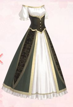 Cosplay Outfits, Anime Outfits, Fashion Outfits, Anime Inspired Outfits, Manga Clothes, Royal Clothing, Anime Dress, Dress Sketches, Dress Drawing