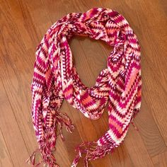Pink Scarf Lightweight pink scarf Accessories Scarves & Wraps