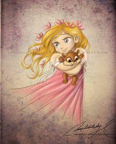 Giselle de pequeña