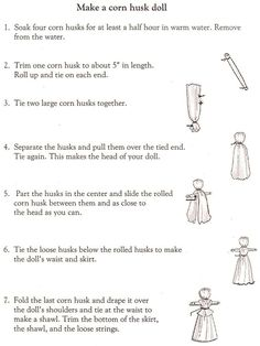 Corn husk dolls for Lammas http://unceduc415.pbworks.com/w/page/24689269/m)%20Toys%20and%20Games