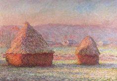 Claude Monet, Haystacks - White Frost, Sunrise, 1890