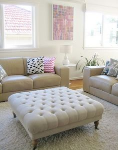 large tufted ottoman - Google Search