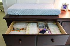 Baby organization ideas