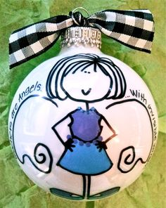 Teacher Ornament  Hand Painted and Personalized by HappyYouHappyMe, $16.50