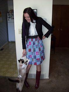 DIY: elastic waist skirt #sewing #skirt #DIY