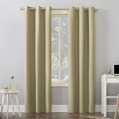 Sun Zero Cameron Thermal Insulated 100% Blackout Grommet Curtain Panel | Kohls Grommet Curtains, Blackout Curtains, Drapes Curtains, Curtains Kohls, Home Cooler, Colorful Curtains, Entertainment Room, Home Decor Outlet, Energy Efficiency