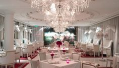 El Bistro, an upscale restaurant in the Buenos Aires waterfront hotel, The Faena. The unicorn taxidermy-adorned restaurant is the place to see and be seen.