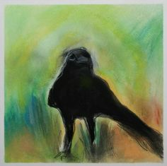 Berlian Arts - Lisa Dombek-Crow en Face, $150.00 (http://www.berlianarts.com/lisa-dombek-crow-in-green/)