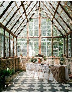 Greenhouse Atrium – Home Decor Exterior Greenhouse Plans, Greenhouse Gardening, Greenhouse House, Greenhouse Wedding, Cheap Greenhouse, Indoor Greenhouse, Pallet Greenhouse, Gardening Books, Garden Wedding