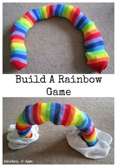 Build A Rainbow Game. Easy to set up and lots of fun! Create your own 3D rainbow and develop gross motor skills at the same time!