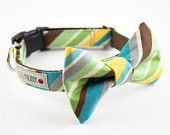 Green Peppermint Stick Bow Tie Dog Collar. $42.00, via Silly Buddy @Etsy.